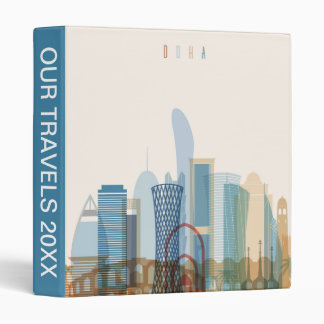 Doha, Qatar | City Skyline 3 Ring Binder