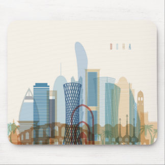 Doha, Qatar | City Skyline Mouse Pad