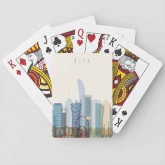 Doha, Qatar | City Skyline Playing Cards