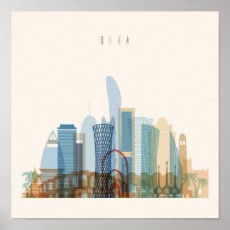 Doha, Qatar | City Skyline Poster