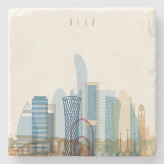 Doha, Qatar | City Skyline Stone Coaster