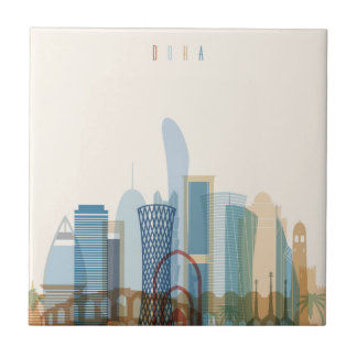 Doha, Qatar | City Skyline Tile