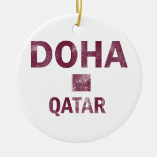 Doha Qatar designs Ceramic Ornament