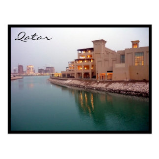 doha waters postcard