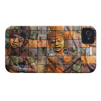 Doi Inthanon Chedi Carved Tiles 2 Case-Mate iPhone 4 Case