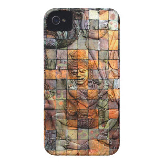Doi Inthanon Chedi Carved Tiles 2 iPhone 4 Cover