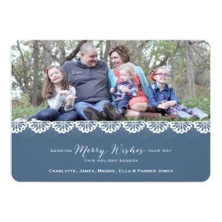 Doily Holiday Photo Card