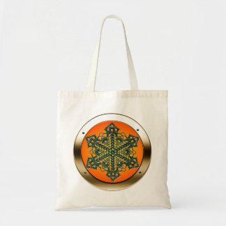 Doily in a Porthole Shopping Bag - Sunburst Satin