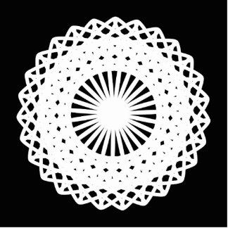 Doily White lace circle On Black Photo Cut Out