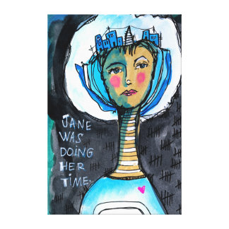 Doing Time Jane Canvas Print
