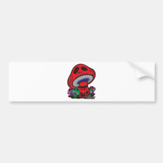 dokurokinoko - WHITEROCK - Bumper Stickers