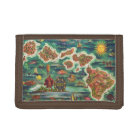Dole 1950 Map of Hawaii Joseph Feher Oil Paint Trifold Wallet