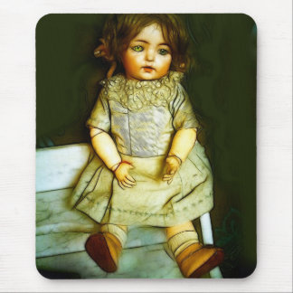 DOLL ...alone .. IN GREEN Mouse Pad