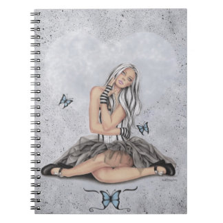 Doll at heart Butterfly Notebook