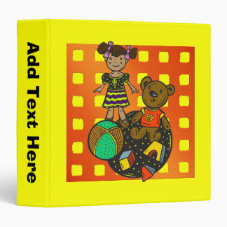 Doll Bear and Ball Toys Binders