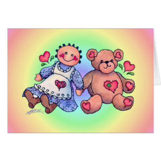 DOLL & BEAR by SHARON SHARPE Card