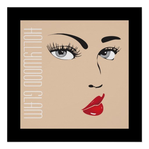 """Doll Face """"Hollywood Glam"""" Poster Print"""