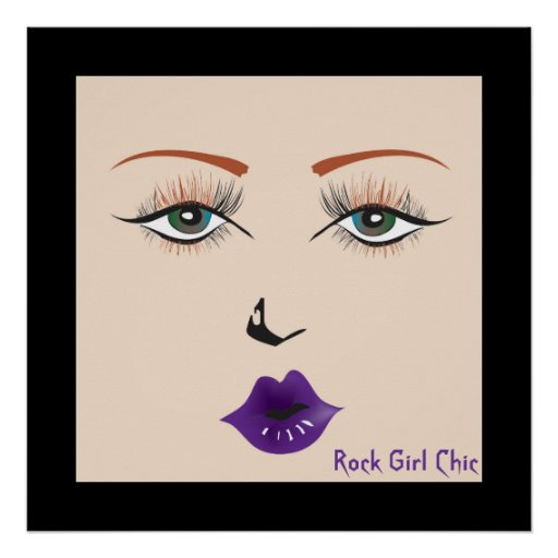 "Doll Face ""Rock Girl Chic"" Poster Posters"