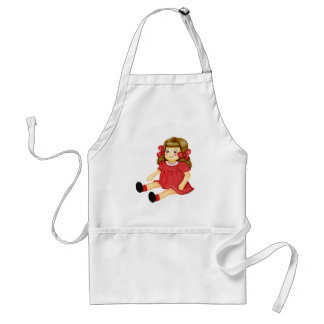 Doll in Red Standard Apron