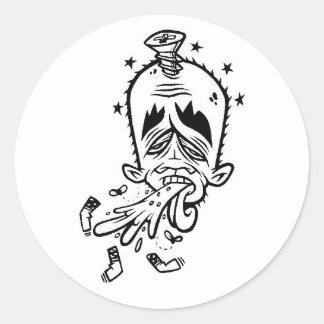 dolla yok yak1 round sticker