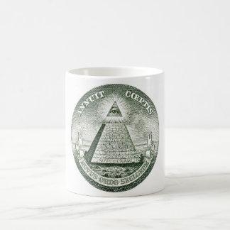 Dollar Bill Freemason Illuminati Pyramid Coffee Mug