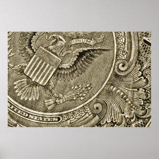 Dollar Bill Macro Poster