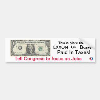 Dollar Campaign Bumper Sticker