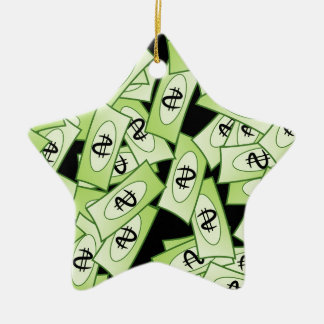 Dollar Ceramic Ornament