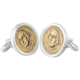 Dollar coin cuff links
