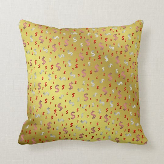 dollar, colour, colourful + pattern, house + throw pillow