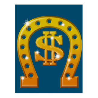 Dollar emblem (gold) postcard