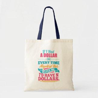 Dollar Fourre-tout du calembour N d'équation Tote Bag