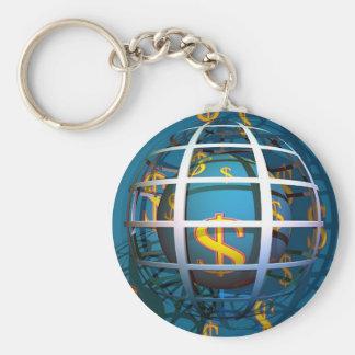 Dollar Globe Keychain
