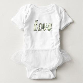 Dollar love baby bodysuit