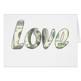 Dollar love card