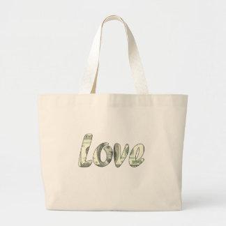 Dollar love large tote bag