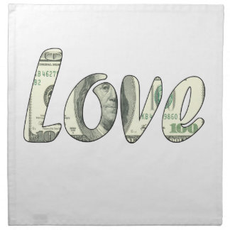 Dollar love napkin