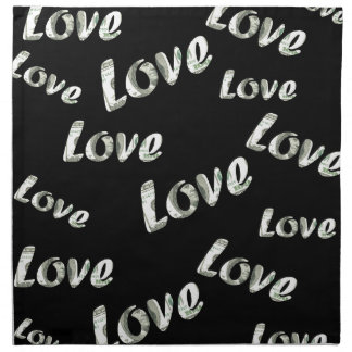 Dollar love patter napkin