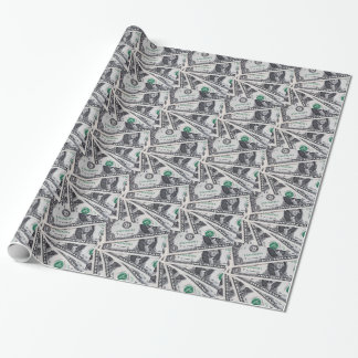 Dollar notes 1 Dollar Wrapping Paper