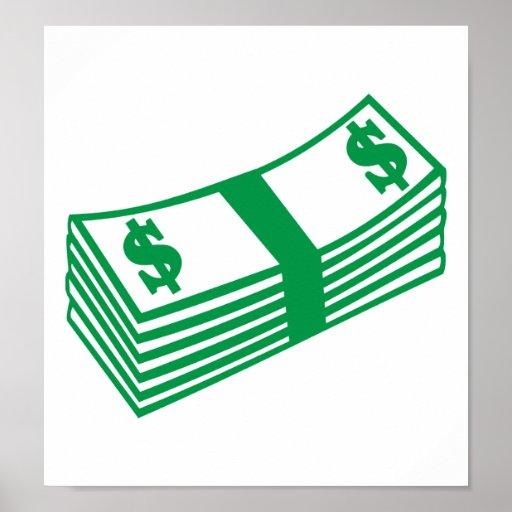 Dollar notes poster