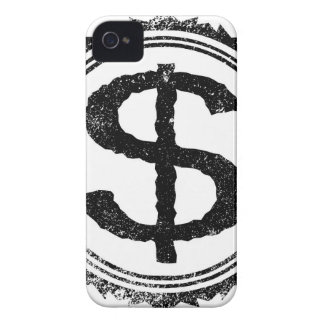 Dollar Rubber Stamp Case-Mate iPhone 4 Cases
