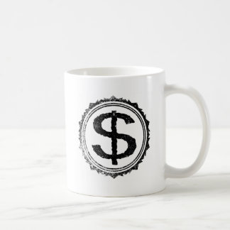 Dollar Rubber Stamp Coffee Mug