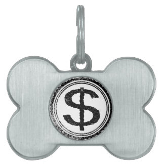Dollar Rubber Stamp Pet Tags