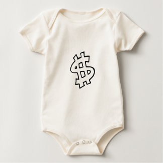Dollar Sign Baby Bodysuit