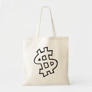 Dollar Sign Budget Tote Bag