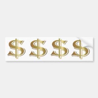 Dollar Sign Bumper Sticker