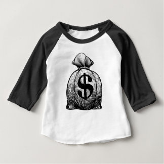 Dollar Sign Burlap Sack or Money Bag Baby T-Shirt