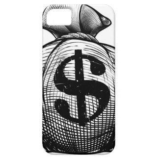 Dollar Sign Burlap Sack or Money Bag Case For The iPhone 5
