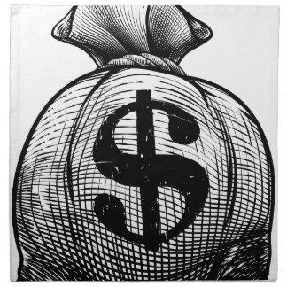 Dollar Sign Burlap Sack or Money Bag Napkin