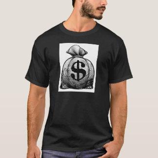 Dollar Sign Burlap Sack or Money Bag T-Shirt